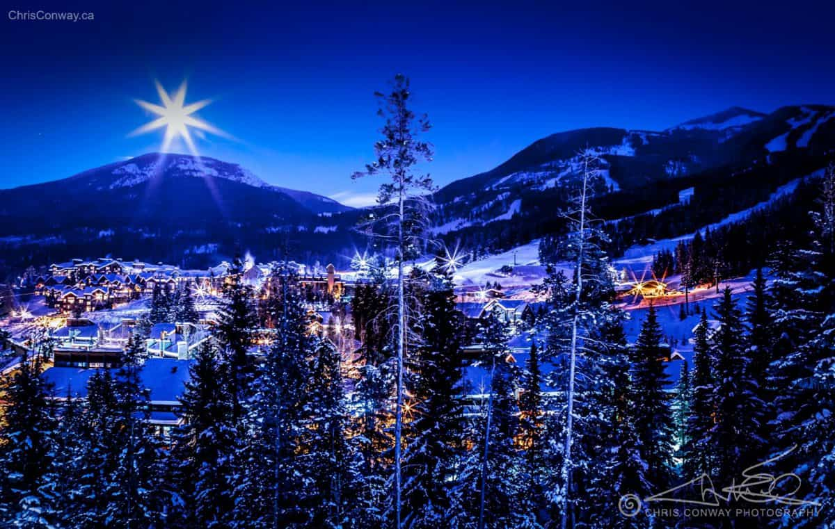 Moonrise Over Panorama Mountain Resort