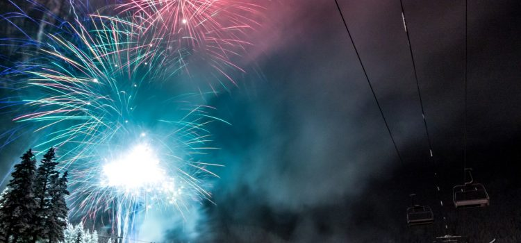 New Year Fireworks at Panorama Mountain Resort
